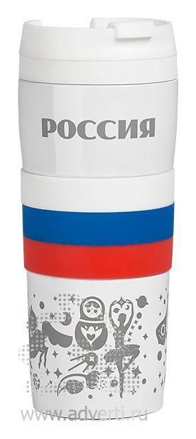 Термостакан «Россия», пример по нанесению