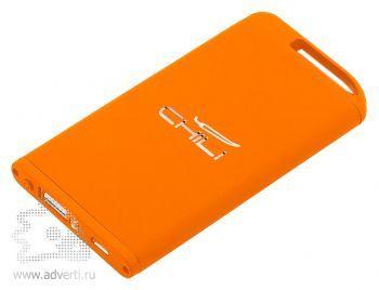 Источник энергии универсальный «Theta» с фонариком, 4000 mAh, оранжевый