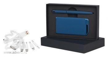 Набор ручка + источник энергии в футляре, темно-синий