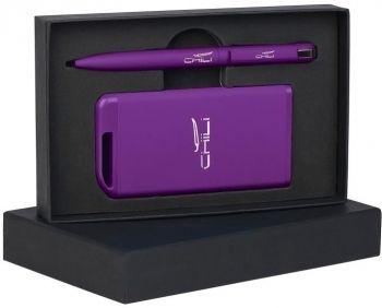 Набор ручка + источник энергии в футляре, фиолетовый