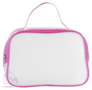 Прозрачная косметичка «Cosmonova», розовая
