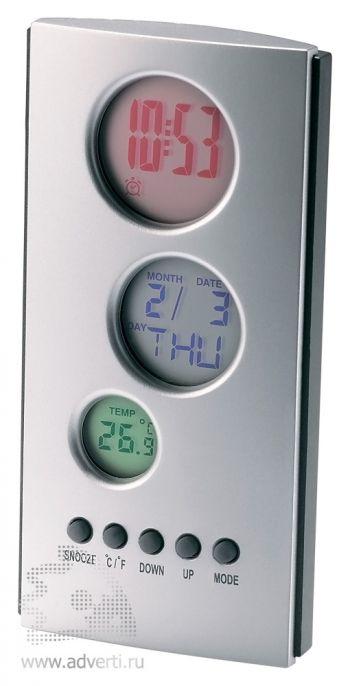 Метеостанция «Physic» с часами, календарем и термометром
