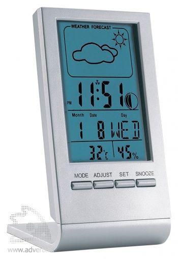 Метеостанция «Sky» с часами, индикатором температуры, влажности и будильником