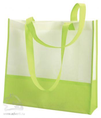 Пляжная сумка из нетканого материала «Vivi», светло-зеленая