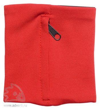 Напульсник с карманом «Prorun», красный