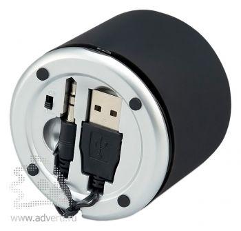 Аудиосистема с поворотным динамиком «Jerome», отделение для хранения USB провода