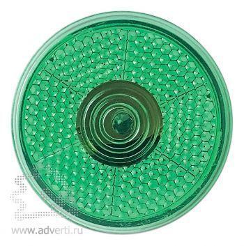 Светоотражающий фонарь «Blinkie» с клипсой для крепления, зеленый