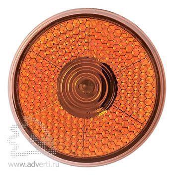 Светоотражающий фонарь «Blinkie» с клипсой для крепления, оранжевый