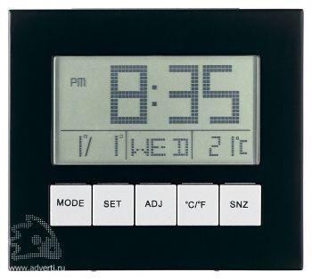 Часы «Shanghai» на солнечных батарейках с календарем, термометром, будильником