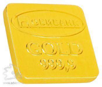 Шоколадные медали 15 г, золотая фольга