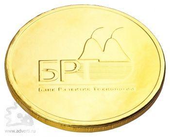 Шоколадные медали 25 г, золотая фольга