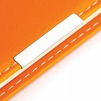 Еженедельники «Metropol», оранжевые, металлический шильд