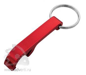 Брелок-открывалка «Лапка», красный