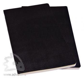 Набор записных книжек «Volant», черный, 2 штуки