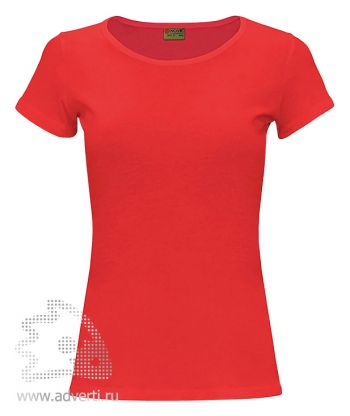 Футболка «Novic lady», женская, Россия, красная
