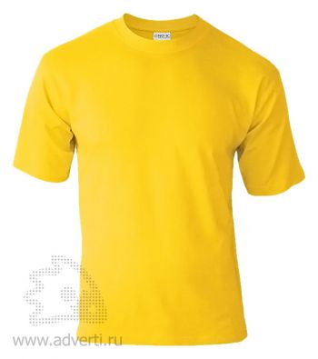 Футболка «Novic», унисекс, желтая