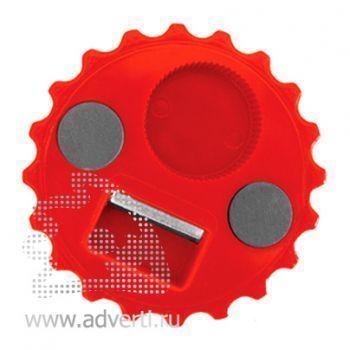 Открывалка «Пробка» на магнитах, красная