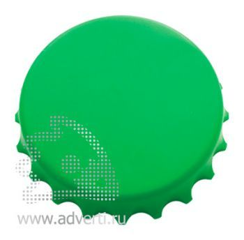 Открывалка «Пробка» на магнитах, зеленая