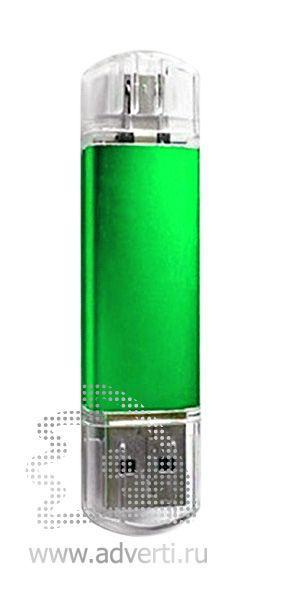 Флеш-память «Двойные стандарты», зеленая