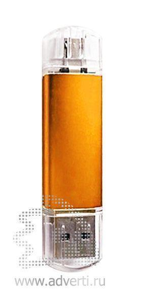 Флеш-память «Двойные стандарты», оранжевая