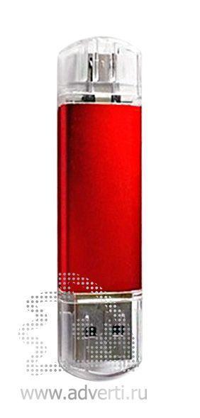 Флеш-память «Двойные стандарты», красная