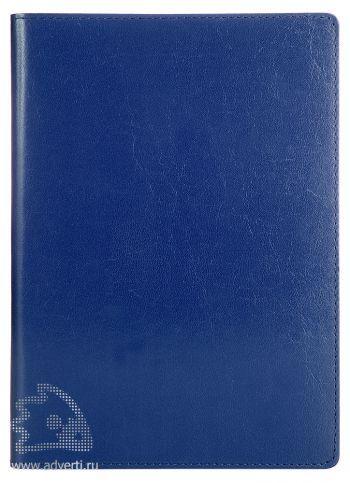 Еженедельники «Oxford» (натуральная кожа), синие
