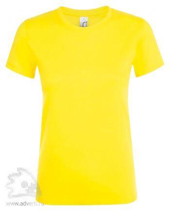 Футболка женская «Regent women», женская, светло-желтая