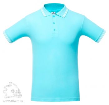 Рубашка поло «Virma Stripes», бирюзовое