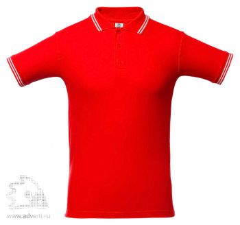 Рубашка поло «Virma Stripes», красное