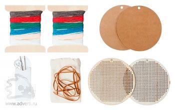 Набор для вышивания «Елочная игрушка». материалы для создания игрушек