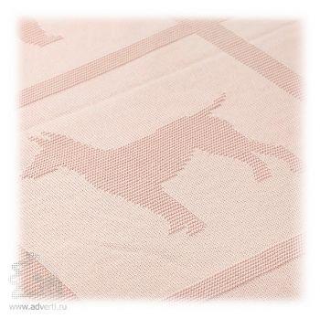 Плед с объемной вязкой «Символ года», дизайн