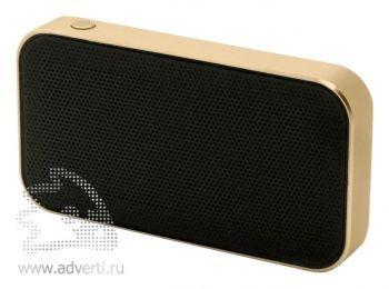 Беспроводная Bluetooth колонка «microSpeaker», золотистая