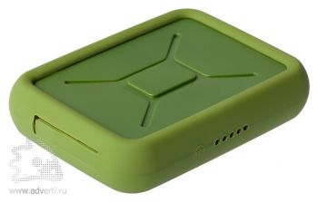 Внешний аккумулятор «Канистра» 10000 mAh, зеленый
