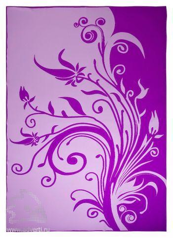 Плед «Spring», фиолетовый, сторона 1