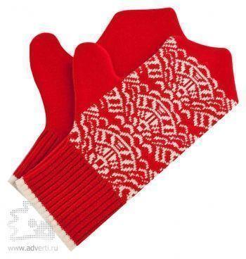 Варежки «Целый год в ажуре», красные