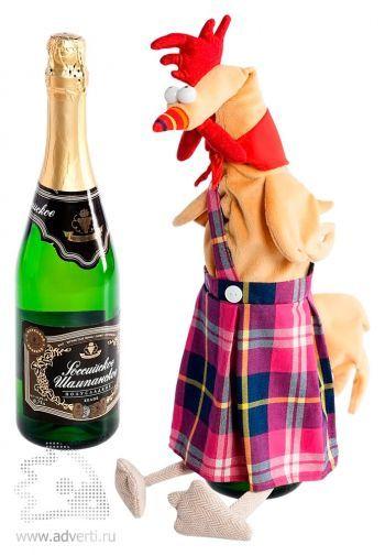 Чехол на шампанское «Глава семейства», использование
