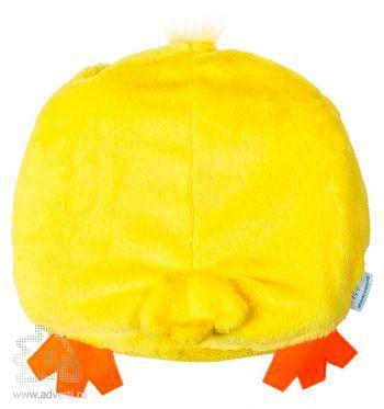 Игрушка-подушка «Цыпа» с пледом, оборотная сторона игрушки
