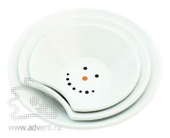 Набор тарелок «Снеговик», общий вид