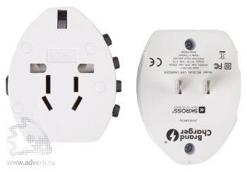 Универсальное сетевое зарядное устройство «Travel Pro USB», переходники