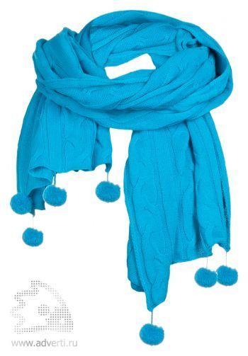 Палантин «Emotion», голубой