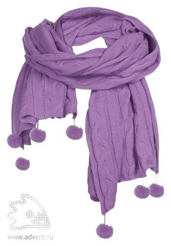 Палантин «Emotion», фиолетовый