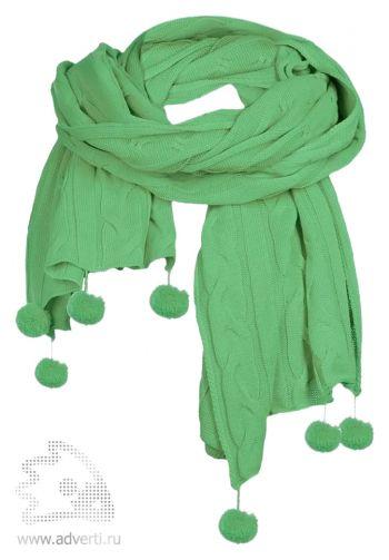 Палантин «Emotion», зеленый