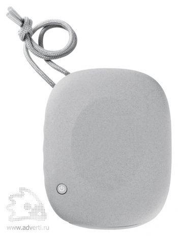 «Pebble» беспроводная Bluetooth колонка c внешним аккумулятором, оборотная сторона