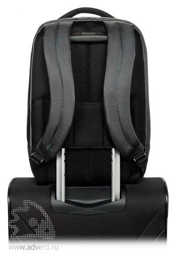 Рюкзак для ноутбука «Samsonite Qibyte Laptop Backpack», Smart sleeve/умный карман для крепления на выдвижной ручке чемодана