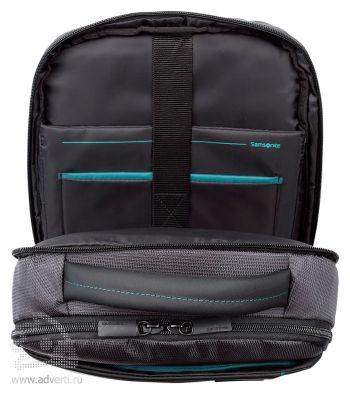 Рюкзак для ноутбука «Samsonite Qibyte Laptop Backpack», внутреннее отделение для ноутбука
