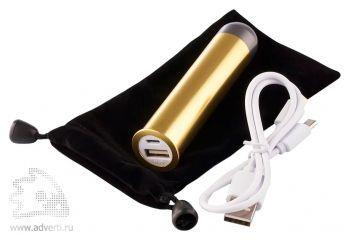 Универсальный внешний аккумулятор «Power Express» 3000, переходник для зарядки