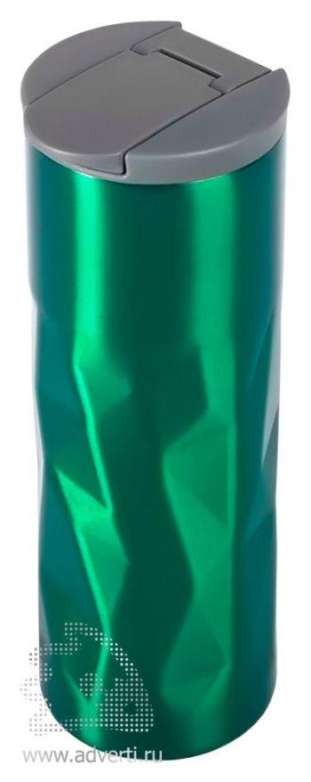 Термокружка «Gems», зеленая