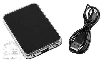 Универсальный внешний аккумулятор «Logo Power Ace», 3000 mAh, переходник