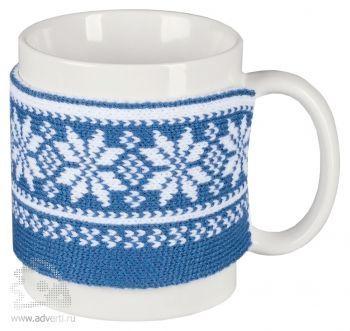 Манжета на кружку «Скандик», синяя