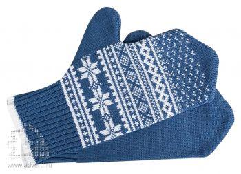 Варежки «Скандик», синие